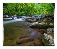 Tellico River Rapids Fleece Blanket