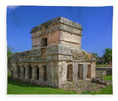 Temple Of The Frescoes Fleece Blanket