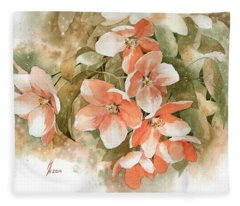 Tender Blossom Of Apple Tree Fleece Blanket