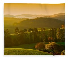 Smokey Mountain Sunrise Fleece Blanket