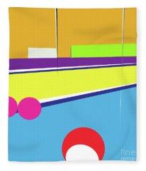 Tennis In Abstraction Fleece Blanket