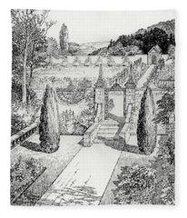 Terrace Walk And Herb Garden Fleece Blanket