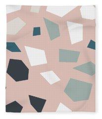Terrazzo 2- Art By Linda Woods Fleece Blanket