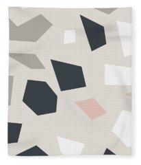 Terrazzo 3- Art By Linda Woods Fleece Blanket