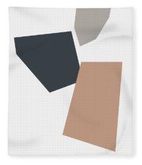 Terrazzo Abstract 3- Art By Linda Woods Fleece Blanket