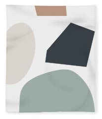 Terrazzo Abstract R- Art By Linda Woods Fleece Blanket