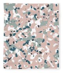 Terrazzo Splash 3- Art By Linda Woods Fleece Blanket