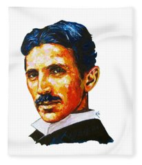 Tesla - Pure Genius Fleece Blanket