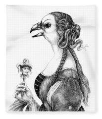 Tete-a-tete With Botticelli Fleece Blanket