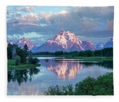 Teton Oxbow Bend  Fleece Blanket