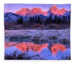 Teton Panorama T-shirt Fleece Blanket