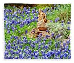 Texas Bluebonnets Fleece Blanket