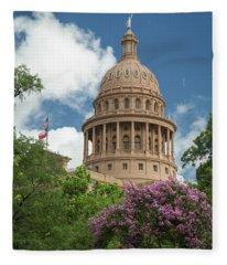 Texas Capital Building Fleece Blanket