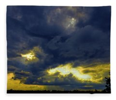 Texas Hill Country Storm Fleece Blanket
