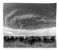 Texas Panhandle Meso Fleece Blanket