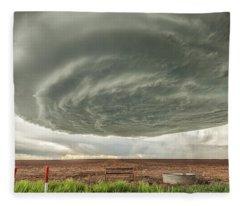 Texas Panhandle Wall Cloud Fleece Blanket