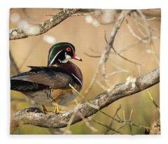 Texas Wood Duck Fleece Blanket