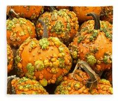 Textured Pumpkins  Fleece Blanket