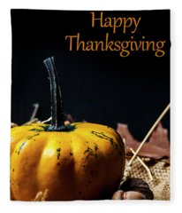 Thanksgiving Dinner Invitation Card. Fleece Blanket
