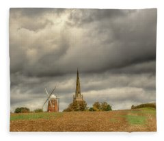 Fleece Blanket featuring the photograph Thaxted - An English Countryside View by Chris Cousins