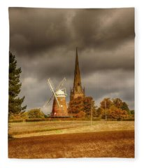 Fleece Blanket featuring the photograph Thaxted Village by Chris Cousins