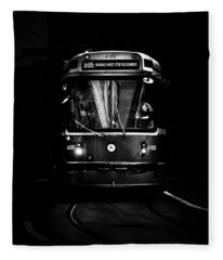 Fleece Blanket featuring the photograph The 505 Dundas Streetcar Toronto Canada by Brian Carson