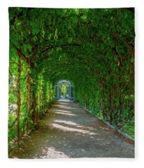 The Alley Of The Ivy Fleece Blanket