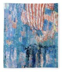 The Avenue In The Rain Frederick Childe Hassam - Digital Remastered Edition Fleece Blanket