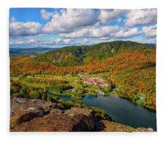 The Balsams Resort Autumn. Fleece Blanket