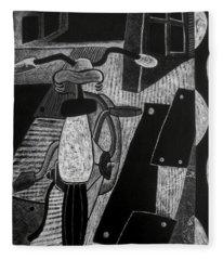 The Bicycle. Fleece Blanket
