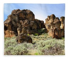 Arches Hoodoos And Castles The Big Picture Little City Of Rocks Fleece Blanket