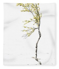 The Birch Tree Fleece Blanket