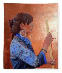 The Black Hmong Princess Fleece Blanket