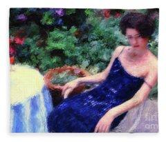 The Blue Dress Fleece Blanket