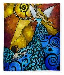 The Blue Fairy Fleece Blanket