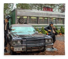 The Blues Brothers At A Diner Fleece Blanket