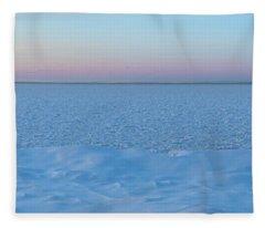 The Blues Of Winter Fleece Blanket