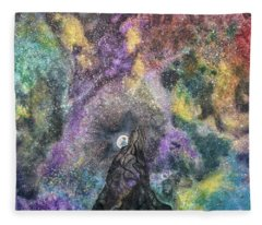 The Boy Who Followed The Moon  Fleece Blanket