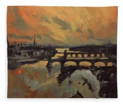 The Bridges Of Maastricht Fleece Blanket