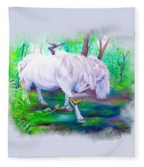 The Butterfly And The Pony Fleece Blanket