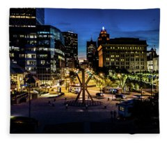 The Calling At Blue Hour Fleece Blanket