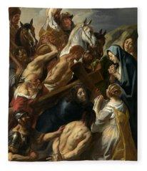 The Carrying Of The Cross, 1657 Fleece Blanket