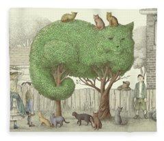 The Cat Tree Fleece Blanket