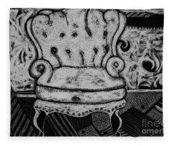 The Chair. Fleece Blanket