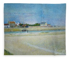 The Channel Of Gravelines Grand Fort Philippe Fleece Blanket