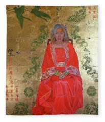 The Chinese Empress Fleece Blanket