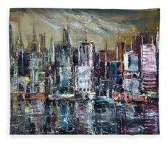 The City Awakens Fleece Blanket