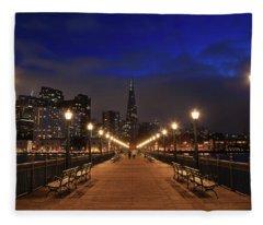 The City Is Calling Fleece Blanket