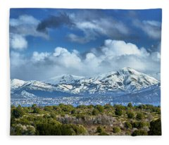 The City Of Bariloche Surrounded By Mountains Fleece Blanket