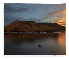 The Closed Cove In Aguilas At Sunset, Murcia Fleece Blanket